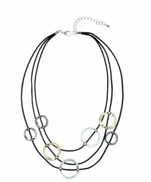 Metal Ring Multi-layer Necklace