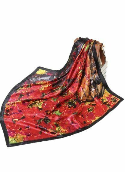 ole rose silk scarf