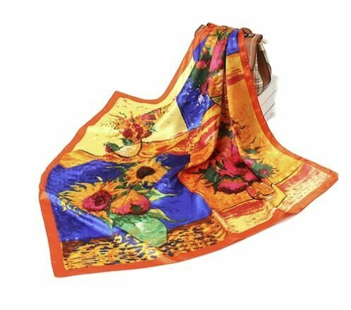 ole sunflower silk scarf