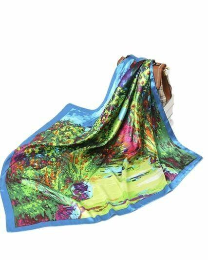 ole forest silk scarf