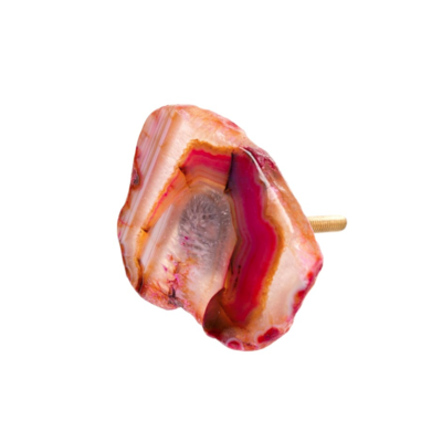 Rose stone knob