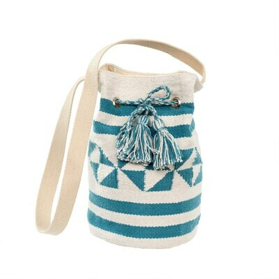 Surf Stripe Blue Bucket Bag