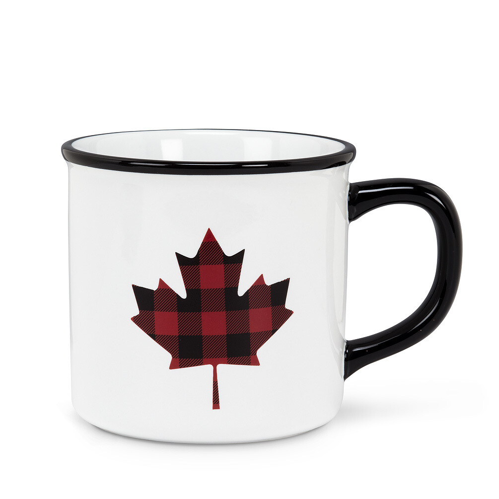 Plaid Maple Leaf Mug