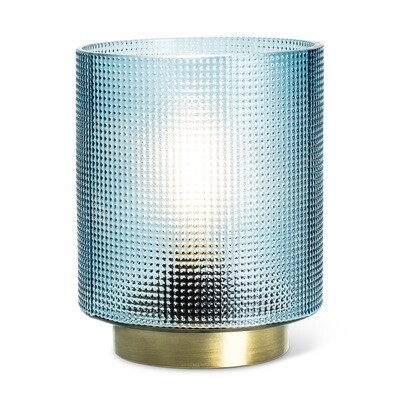 Blue Textured Led Lantern