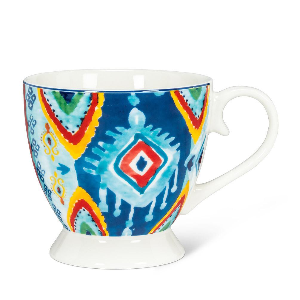 Greenwich Blue Print Pedestal Mug