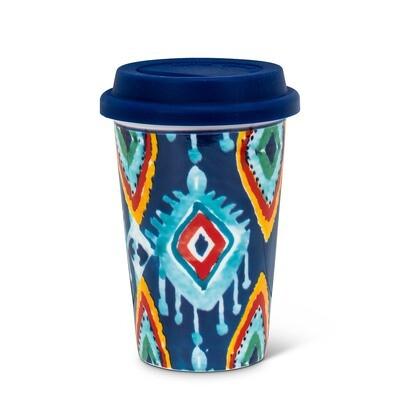 Greenwich Blue Print Takeaway Cup