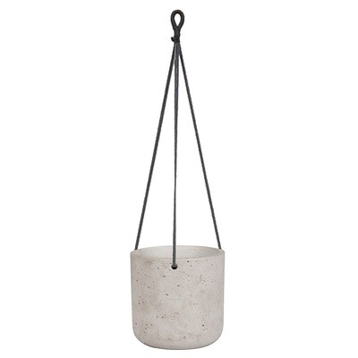 Medium Grey Hanging Planter
