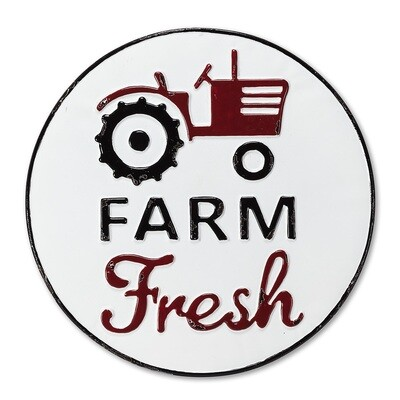 Farm Fresh Metal Sign