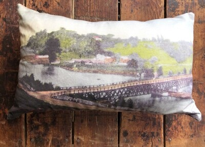 Bayfield Bridge Postcard Pillow