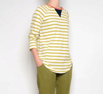 PAN ~ Chartreuse Stripe Top