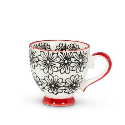 Daisy Handled Cappuccino Mug