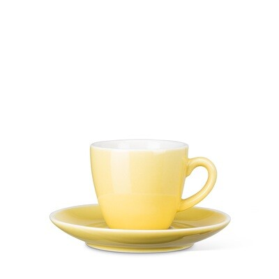 Yellow Espresso Cup and Saucer