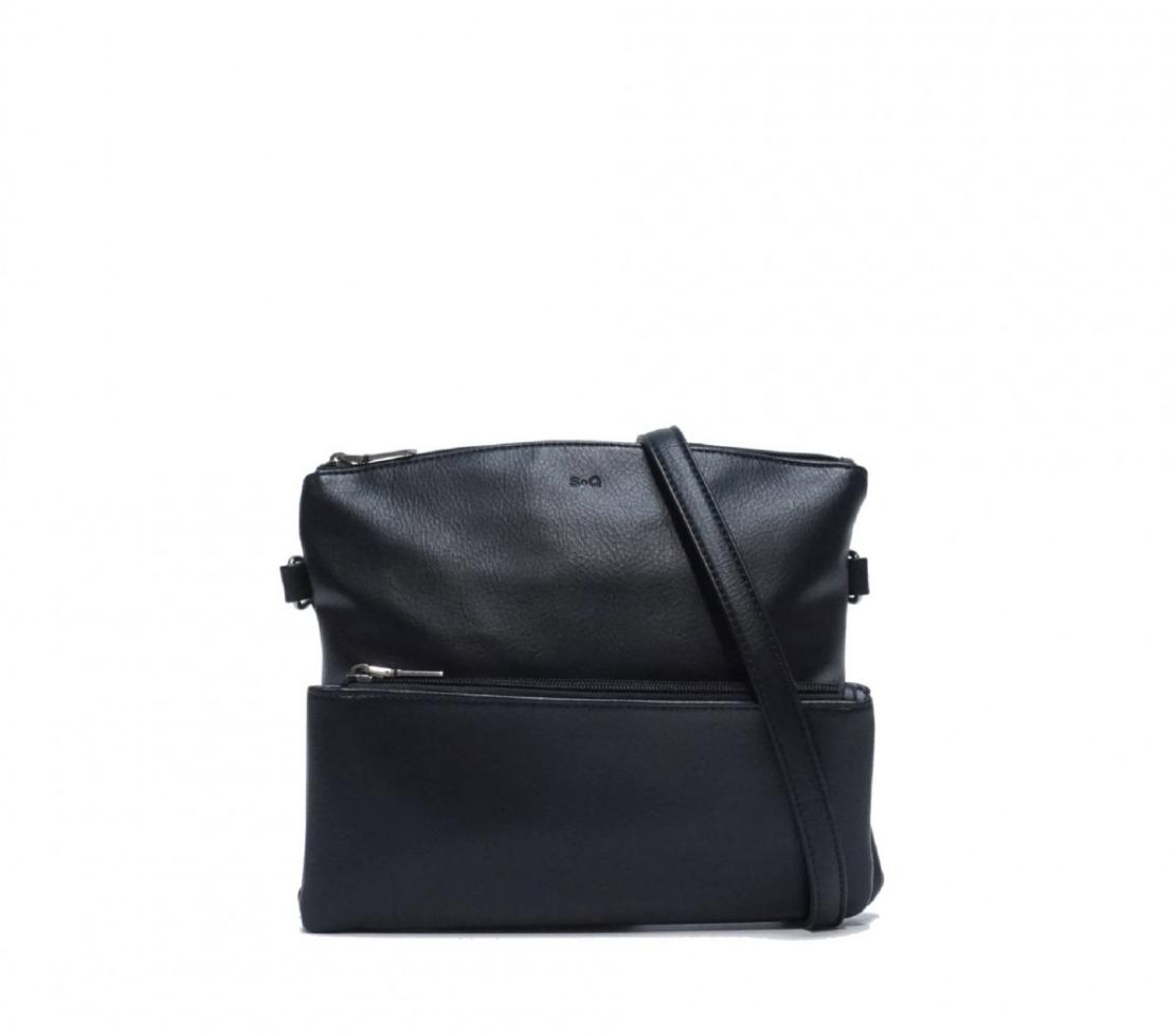 kale cross body purse - black
