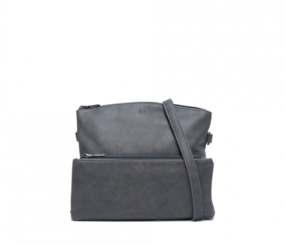 SQ ~ Kale Crossbody Purse - Charcoal Grey