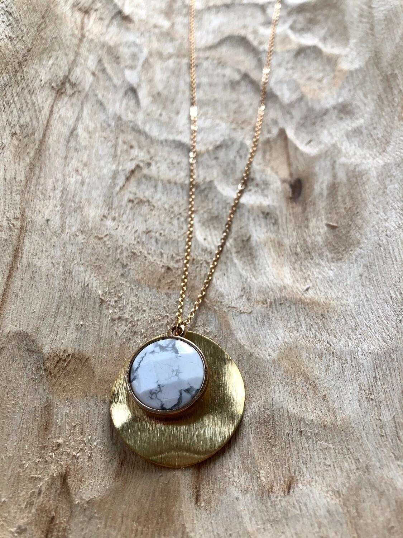 Frug Fania SemiPrecious stone and Metal Necklace 001