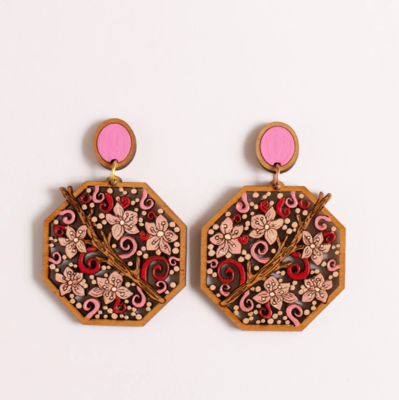 Rylee and ink cherry blossom earrings