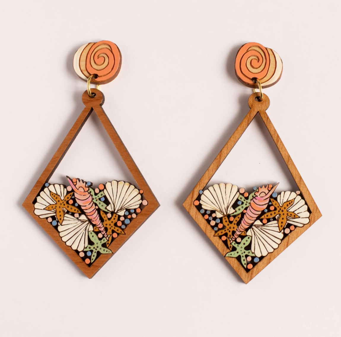 Rylee and Ink Seashell Statement Earrings
