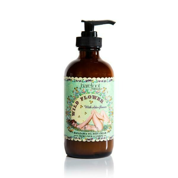 Barefoot Venus Wild Flower ~ Macadamia Oil Body Lotion