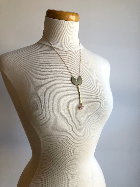 FRUG Pink Semi-Precious Stone Necklace