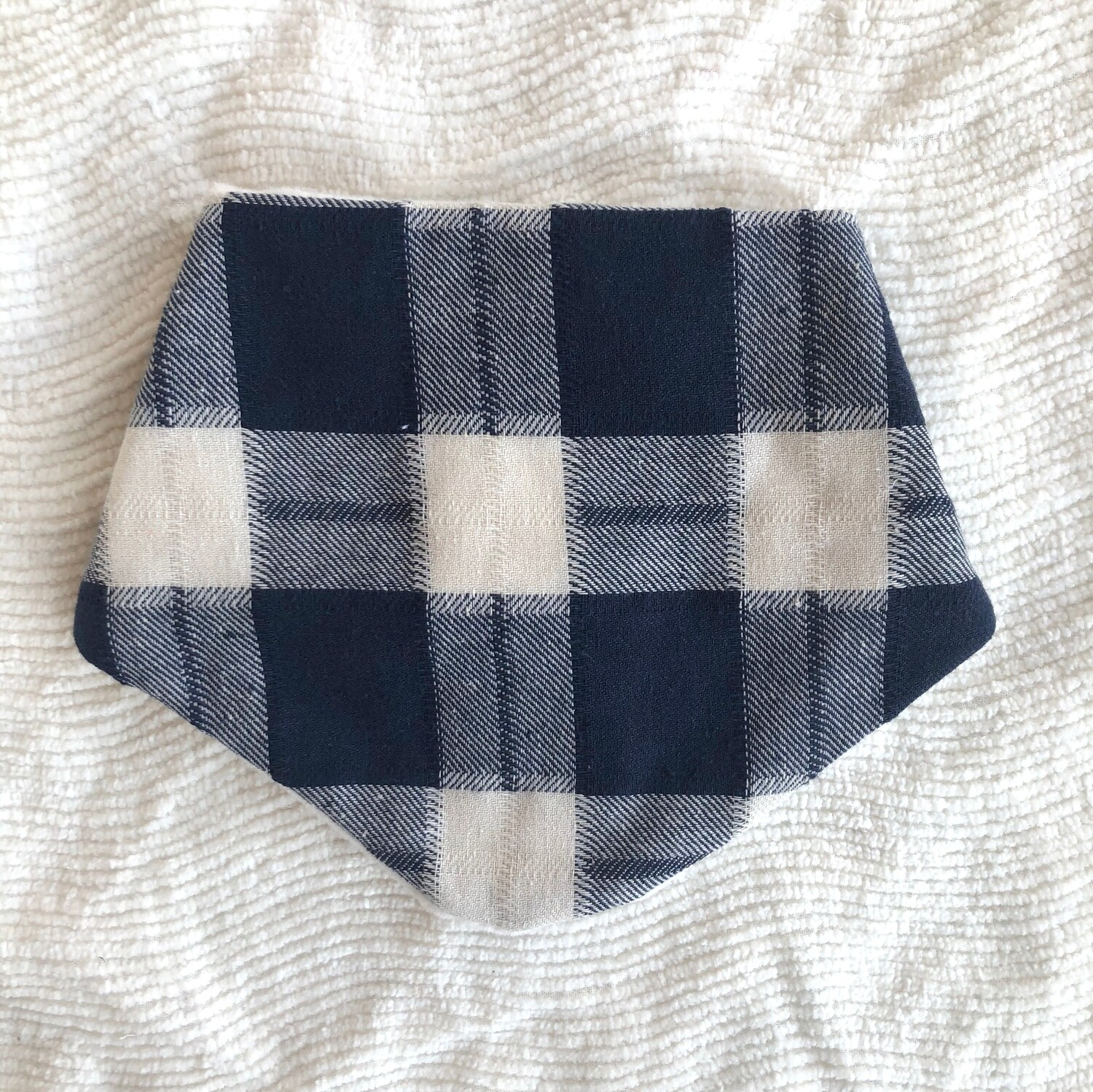 Moxie & Zab - Dribble Bib ~ Blue Plaid