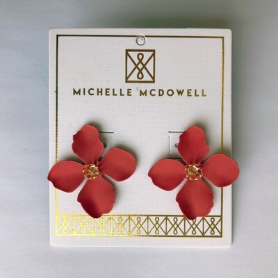 Michelle McDowell ~ Red Bloom Earrings