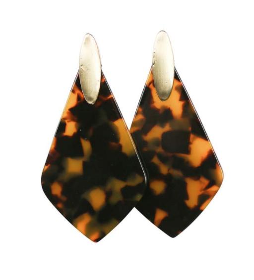 Michelle McDowell~ Cheetah Tear Drop Earrings