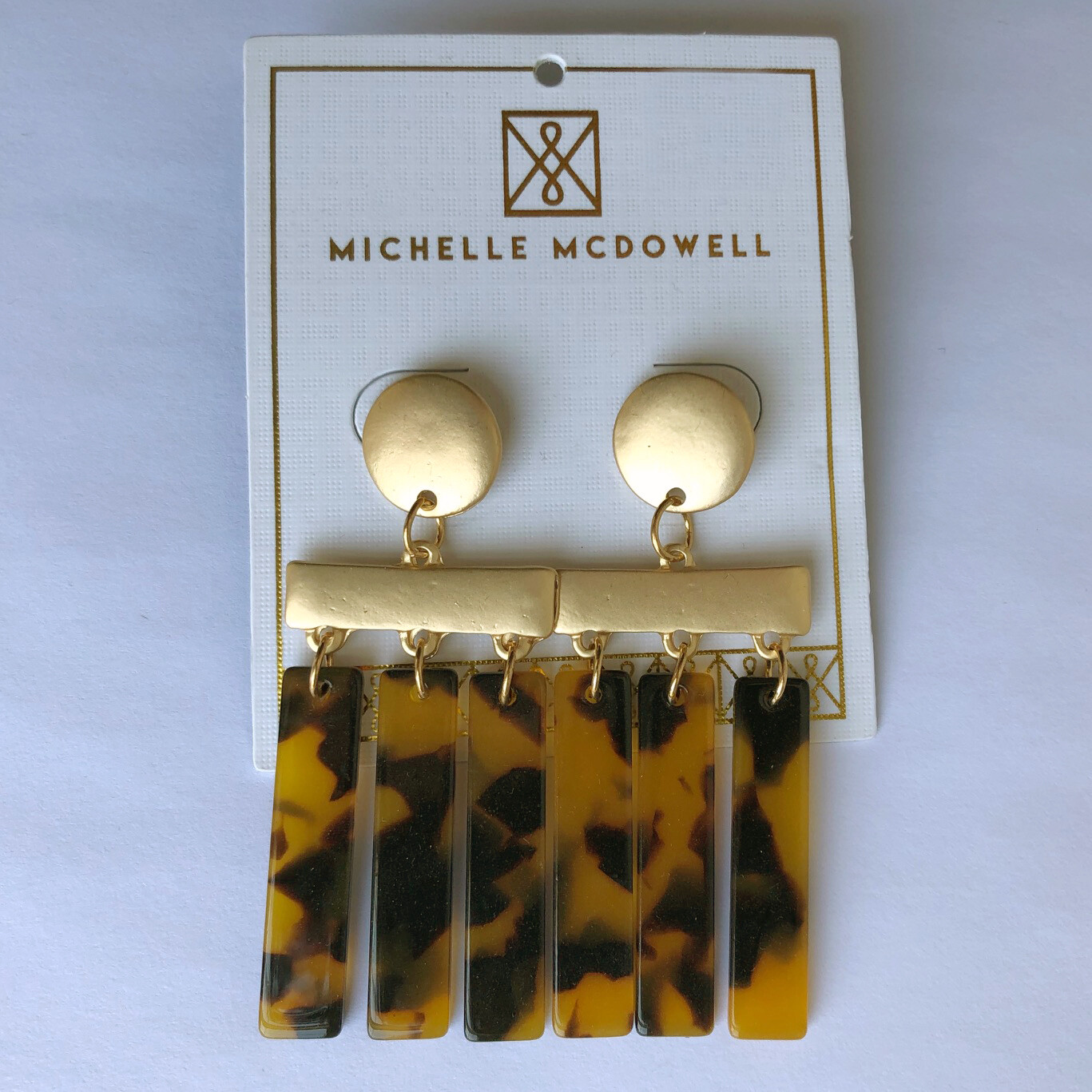 Michelle McDowell ~ Tortoise Dangle Earrings