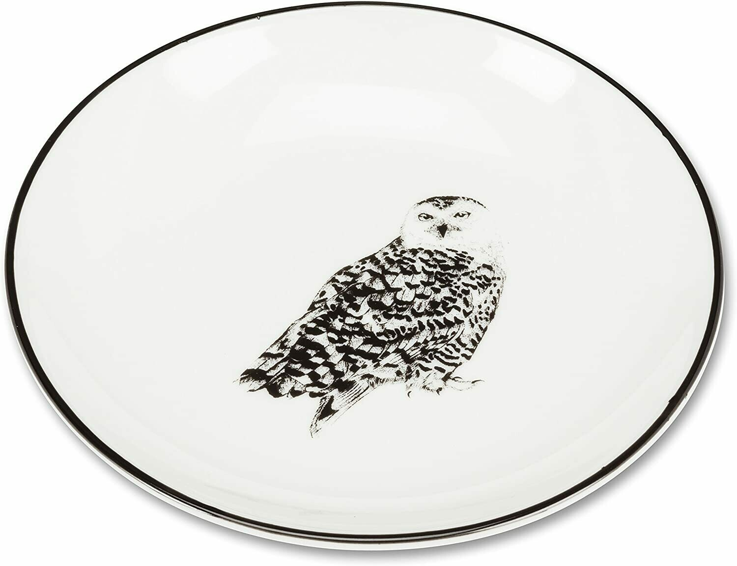 Round Pin Dish with Owl