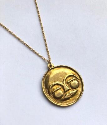 Tamara Steinborn ~ MAWU ~ Moon Goddess Necklace in Bronze