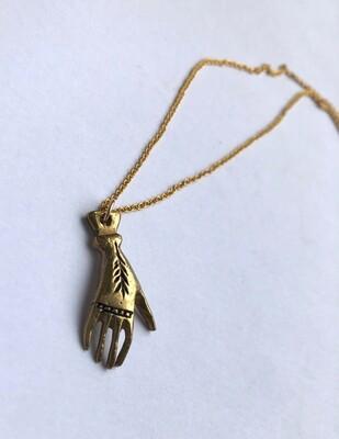 Tamara Steinborn ~ JADA ~ Hand Necklace in Bronze
