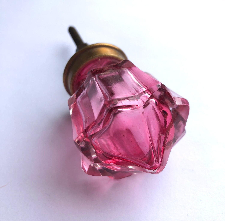 Pink Glass Knob