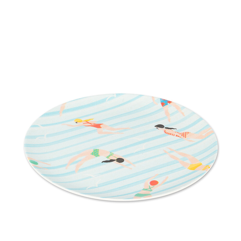 Small Swimmer Print Plate Bamboo