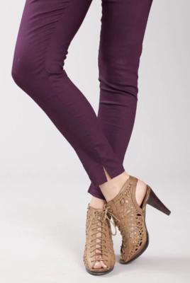 Svelte ~ Tight Ankle Slit Leggings (Cotton Twill)