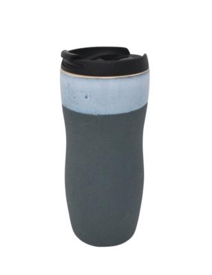 Takeout coffee mug green