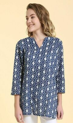 Roopa Blue Top