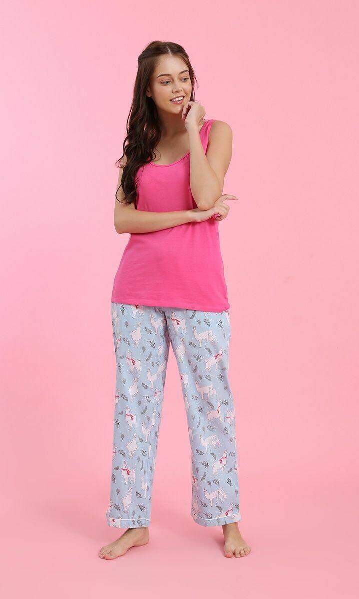 Flannel PJ Pants-in-a-Bag ~ Llamas