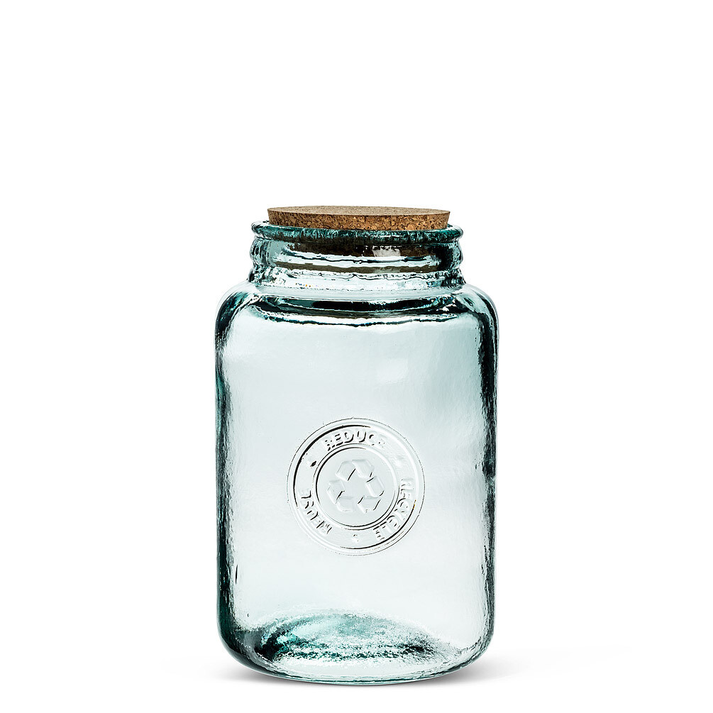 Medium Crest Jar w/Lid