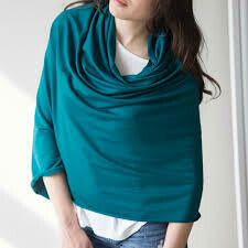 Blondie ~ Bamboo Poncho in Teal