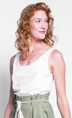 Pink Martini ~ The Emily Top - White