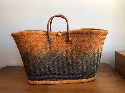 Madagascar basket - Orange & Navy
