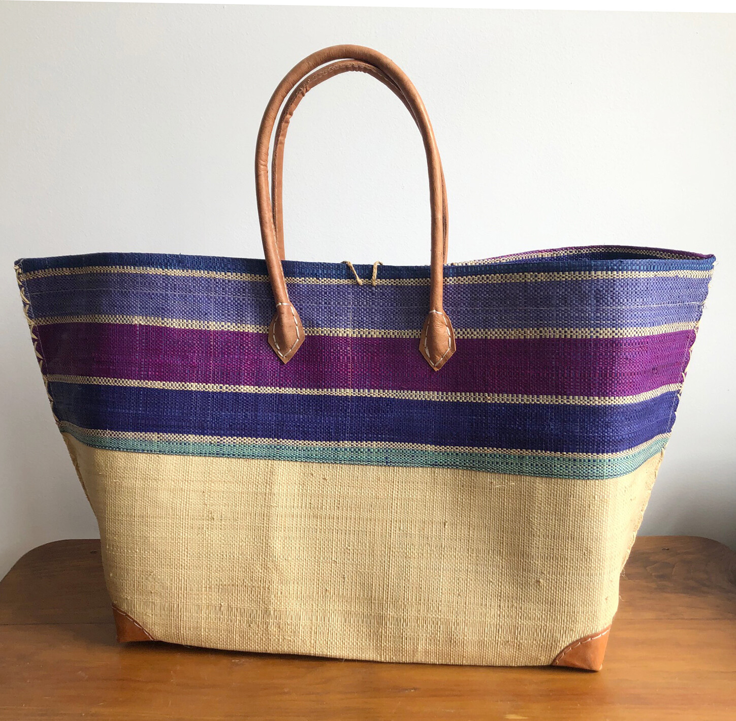 Madagascar Basket - Blue & Purple