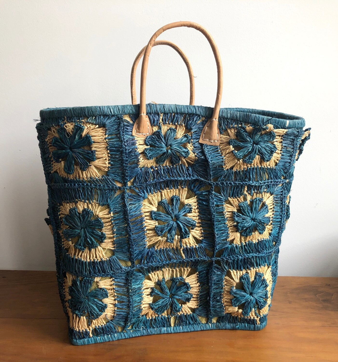 Madagascar Basket - Blue Crochet