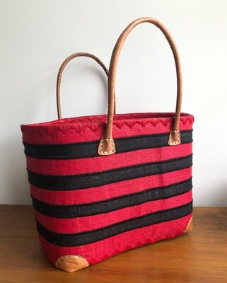 Madagascar Basket - Red & Black Stripe