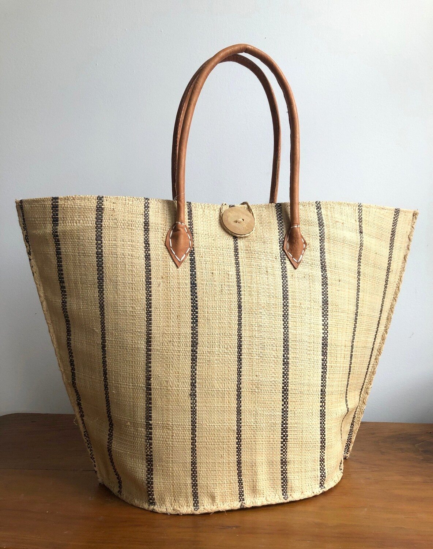 Madagascar Basket - Natural Stripe