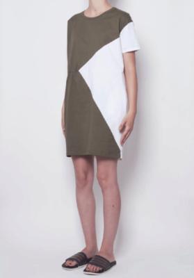 PAN WHITE/GREEN DRESS 2120