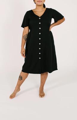 JANE DRESS IN BARELY BLACK