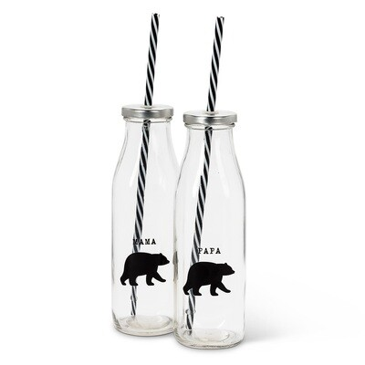 Bear Bottle with Straw