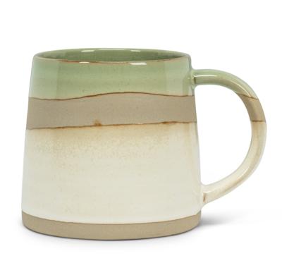 Green and Cream Rustic Mug
