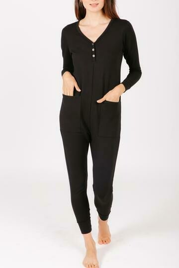Wednesday Romper Black