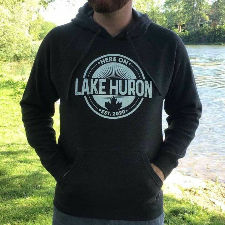 Here On Lake Huron Unisex Hoodie